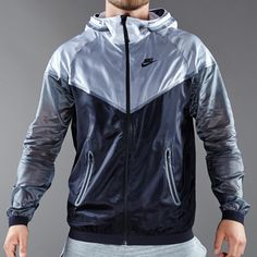 Nike Sportswear Hyperfuse Tech Windrunner - Mens Select Clothing - White-Black-Dark Grey-Black