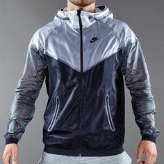 Nike Sportswear Hyperfuse Tech Windrunner - Mens Select Clothing - White-Black-Dark Grey-Black