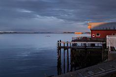 Tidlig morgen ved Bud. Dette er start fra sør på Nasjonal turistveg Atlanerhavsvegen.    Foto: Werner Harstad