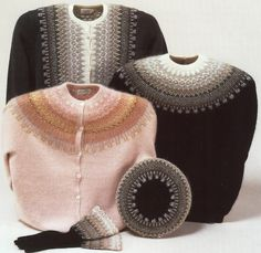 I am lusting for the hat and gloves and the pullover, and the peach sweater. Time to save my toonies