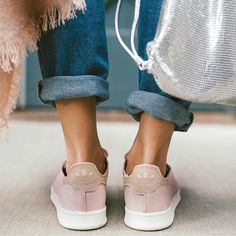 Pink | Sneakers | Adidas | Suede | Denim | More on Fashionchick.nl