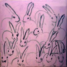 1stdibs.com | Hunt Slonem - Bunny on pink