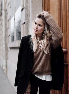 Acne Studios jumper, Margaux Lonnberg x Mija jacket. Via Mija