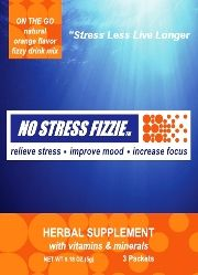 No Stress Fizzie - On the go natural herbal stress relief supplement. Relieve stress & anxiety, improve mood, increase focus
