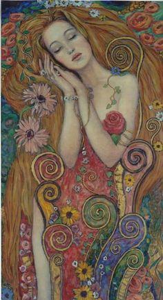 IRINA VITALIEVNA KARKAVI. 1960, Kharkov (Ucrania)    Irina viajó por Europa y Oriente. Este cruce de culturas inspiró poderosamente su obra, donde podemos encontrar una mezcla de influencias de los maestros de Grecia y Egipto combinada con detalles que recuerdan mucho al Art Nouveau. Con todos estos elementos consigue proyectar en sus trabajos una imagen de simbolismo contemporáneo.