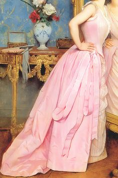 INCREDIBLE DRESSES IN ART (42/∞)Vanity by Auguste Toulmouche, 1889
