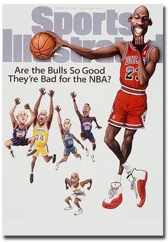 e44b69c0415ab0  4.5 - Michael Jordan Basketball Chicago Bulls Art Fridge Magnet Size 2.5