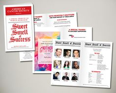 2015 American Cancer Society NYC Spring Gala, Sweet Smell of Success, a Spring Tribute to Marvin Hamlisch - program/playbill design