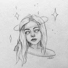 Drawing İdeas Creative - - drawing step by step Easy Doodles Drawings, Cool Art Drawings, Pencil Art Drawings, Realistic Drawings, Cute Drawings Tumblr, Galaxy Drawings, Tumblr Sketches, Tree Drawings, Fantasy Drawings