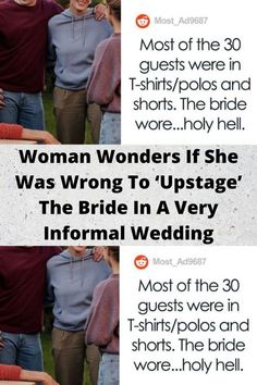 Woman #Wonders If She Was Wrong To '#Upstage' The Bride In A Very #Informal #Wedding Funny Facts, Funny Tweets, Funniest Memes, Bridal Nail Art, Bridal Makeup, Online Shopping Fails, Romantic Wedding Receptions, Dramatic Hair, Funny Profile Pictures