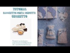 Tutorial Bomboniera uncinetto sacchetto 1/1 - YouTube Tutorial, Floating Shelves, Youtube, Wall Storage Shelves