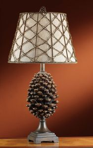 Pinecone Table Lamp in Natural Pinecone Finish