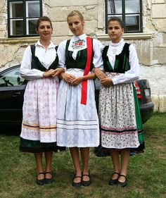 Hungarian folk dress from Palatca/Palatka, Cluj County, Romania  Hungarian folk festival, Banffy Castle, Bontida, Cluj County, August 28, 2010