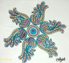 Acrylic Rangoli, Peacock Rangoli, Rangoli Designs