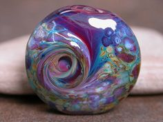 Lampwork Glass Focal Bead Spree Creamy by DivineSparkDesigns, $14.00