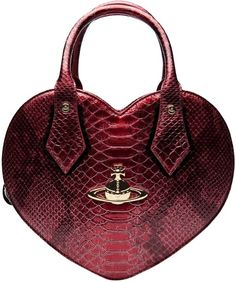 Vivienne Westwood Red Heart Tote love it! Best Designer Bags, Designer Totes, Designer Handbags, Vivienne Westwood Bags, Womens Purses, Handbag Accessories, Fashion Bags, Purses And Bags, Leather
