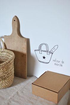 """Sticker """"retour de marché"""" Simply factory"""