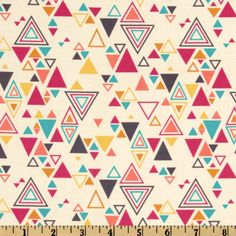 Washi Triangles in Cream by Rashida Coleman Hale