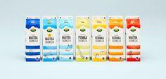 Maitoa Suomesta – Milk from Finland — The Dieline - Package Design Resource