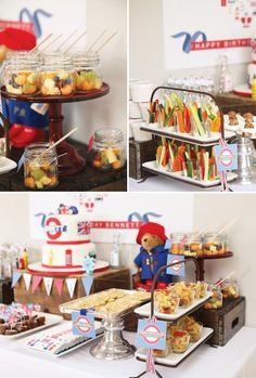 Red & Blue British Themed Birthday Party // Hostess with the Mostess®