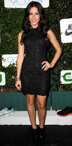 Look of the Day › September 2, 2009 WHAT SHE WORE Lowndes got goth in an all-black minidress with a lace overlay, paired with platform booties WHERE The 90210 season two premiere event in Hollywood