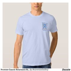 Prostate Cancer Awareness Ribbon Light Blue Angel Custom Tee Angel