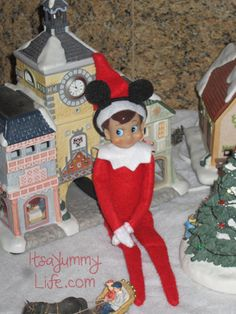 Elf on the Shelf with Mickey Ears