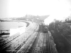 Railway transport facilitated the growth of outer suburbs like Monkstown. Old Steam Train, Old Irish, National Archives, Ancestry, Dublin, Railroad Tracks, Transportation, Past, Trains