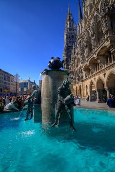 Townhall and fountain, Munich ~ Germany