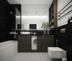 Gray and White Bathroom Decor Luxury 36 Modern Grey & White Bathrooms that Relax Mind Body & soul White Bathroom Decor, Gray And White Bathroom, White Bathroom Tiles, Yellow Bathrooms, Bathroom Interior Design, Bathroom Styling, Bathroom Ideas, Concrete Bathroom, Shower Tiles
