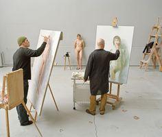 "Elina Brotherus: ""Artists At Work"" (2009) © Elina Brotherus"