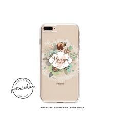 Floral Bee iPhone Case - iPhone 7 Case - iPhone 7 Plus Case - iPhone 6 Case - iPhone 8 Case - iPhone X Case - iPhone 8 Plus Case - Clear by PetrichorCases on Etsy Iphone 7 Plus Cases, Iphone 6, 6 Case, Bee, Flower, Handmade, Stuff To Buy, Etsy, Honey Bees