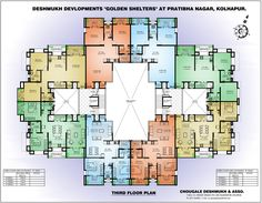 Floor Plan Apartment Building Layout 8 Units Per Floor 1060 1121 Sf Apartment Floor Plans Apartment Building Floor Plan Design Software Design Found On Bing From Apartment Design Ideas Terrace Building, Building Layout, Building Plans, Building Designs, The Plan, How To Plan, 4 Bedroom Apartments, Cool Apartments, Garage Floor Plans
