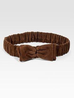Burberry Prorsum Suede Bow Belt