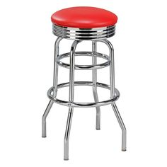 Regal Retro Soda Fountain 26 in. Retro Backless Metal Counter Stool | www.hayneedle.com