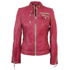 Leather Jacket Pink Dahlia II, 225€, now featured on Fab.