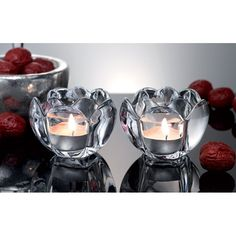 Create a romantic atmosphere with this set of two crystal scalloped tea light holders as your centerpiece! Also makes an elegant gift or wedding favor. Black Friday Specials, Flameless Candles, Menorah, Tea Light Holder, Online Shopping Stores, Punch Bowls, Accent Decor, Tea Lights, Wedding Favors