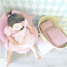 Numero74 doll basket   dusty pink