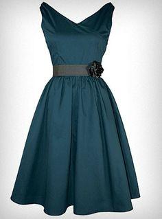 stunning, vintage style, dark teal dress