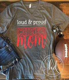 Loud & Proud Cheer Mom - These shirts are unisex Bella+Canvas - Production time is 3-5 Business days. Shipping time depends on your location. WASHING INSTRUCTIONS: I recommend washing your shirt inside out in cold temp and then tumble or air dry on low heat.