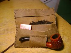 Leather Traveling Pipe Tobacco Pouch