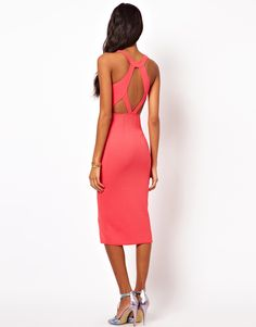 Oh My Love:  Textured Midi Dress with Strappy Back   $61.39 asos.com