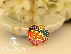 All We Need is Love - amazing necklace to all Beatles Lovers =)  loja.lollyinthesky.com.br