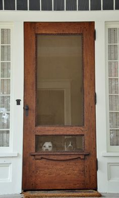 Wood Screen Door...a must for our next home! This is a most beautiful one.  Perfect for the dogs.