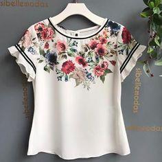 Chegou reposição blusa Suzi❤️❤️❤️ ⚪️R$129,00 ⚪️Tam PMG ⚪️COMPRAS PELO SITE WWW.SIBELLEMODAS.COM.BR ⚪️PARCELAMOS NO CARTÃO EM 06 X SEM JUROS ⚪️A VISTA 8% (BOLETO OU DEPOSITO) ⚪️📲WHATSAPP (11)961837847 RENATA ☎️ (11) 33315819 Modest Outfits, Casual Dresses, Casual Outfits, Fashion Dresses, Kurta Designs, Blouse Designs, Basic Wear, Stitch Fix Outfits, Cute Blouses