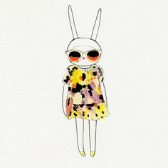 Fifi Lapin in Cacharel. Love this little style bunny.