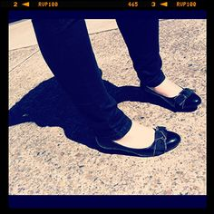 As seen on the Street...SPOTTED: Easy Steps Reuben Black Patent http://on.fb.me/R6eWHU