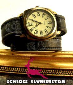 (KUNST)STÜCK 10 Unikat Wickeluhr Armbanduhr Unisex von ♥ Schloss Klunkerstein ♥ Geschenke, Uhren, handgefertigter Unikat Schmuck, romantische Medaillons & Kettenuhren, Naturschmuck, nostalgische, antike & vintage Einzelstücke und seltene Schätze auf DaWanda.com