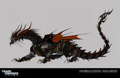 Predaking from Transformers Prime. Concept art by Jose Lopez