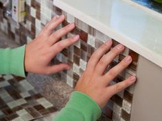 LOVE Peel & Stick Mosaic Backsplash ... This will make a huge change in the kitchen